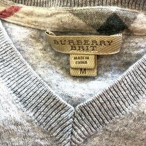 Men's Burberry Brit Cashmere Blend Sweater Medium
